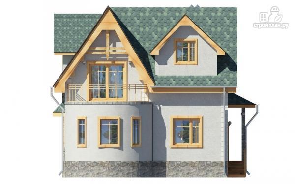 Дом с балконом, террасой и эркером, проект 156/074.