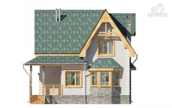Фото 7: проект дом с балконом, террасой и эркером
