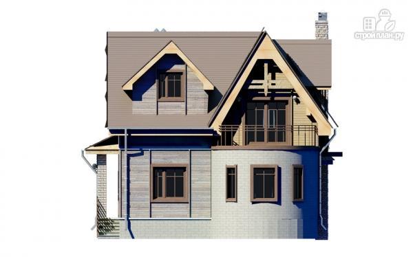 Фото 9: проект дом с балконом и эркером в столовой