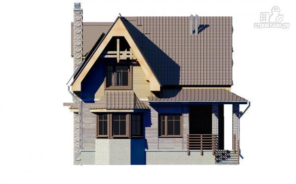 Фото 4: проект дом с балконом и эркером в столовой