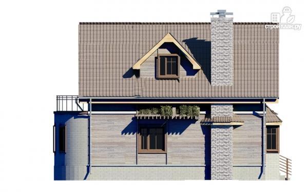 Фото 5: проект дом с балконом и эркером в столовой
