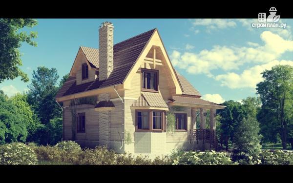 Фото: проект дом с балконом и эркером в столовой