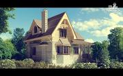 Проект дом с балконом и эркером в столовой