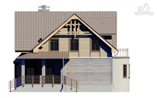 Фото 7: проект дом с балконом и эркером в столовой