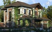 Фото: двухэтажный дом с гаражом