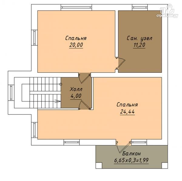 Фото 3: проект двухэтажный дом с гаражом