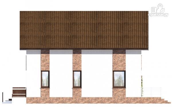 Фото 6: проект дом с балконом, террасой и навесом для машины