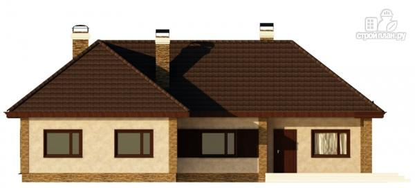 Фото 5: проект одноэтажный дом с террасой и гаражом