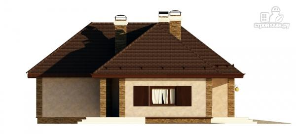 Фото 6: проект одноэтажный дом с террасой и гаражом