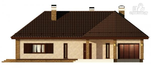 Фото 3: проект одноэтажный дом с террасой и гаражом