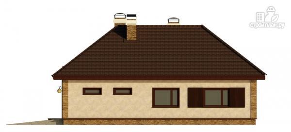 Фото 4: проект одноэтажный дом с террасой и гаражом