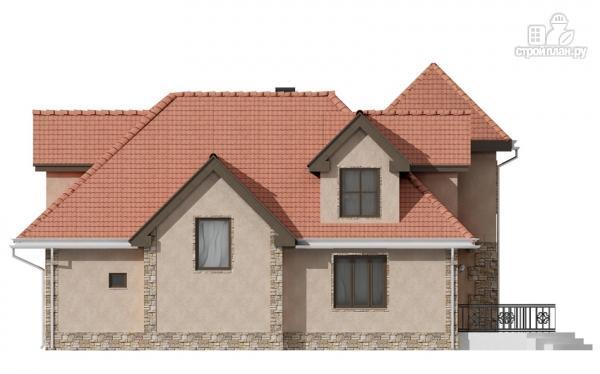 Фото 4: проект дом с террасой и гаражом
