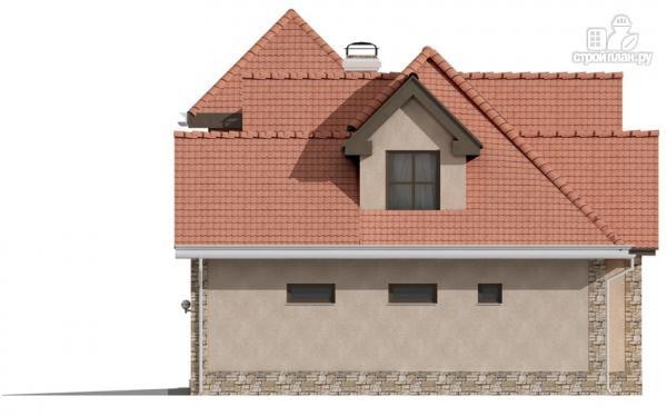 Фото 5: проект дом с террасой и гаражом