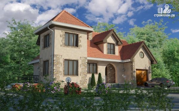 Фото: проект дом с террасой и гаражом