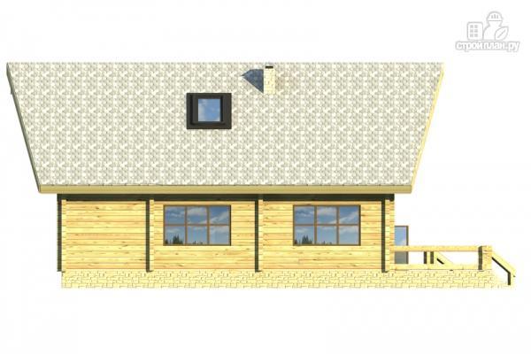 Фото 4: проект дом из клееного бруса с сауной и светлой гостиной