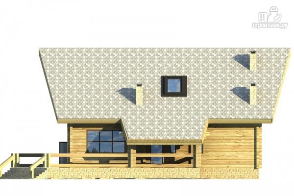 Фото 5: проект дом из клееного бруса с сауной и светлой гостиной