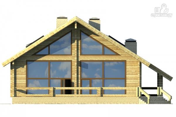 Фото 6: проект дом из клееного бруса с сауной и светлой гостиной