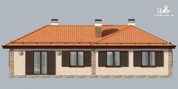 Фото 3: проект одноэтажный дом с камином и террасой