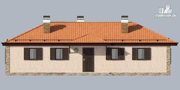 Фото 5: проект одноэтажный дом с камином и террасой