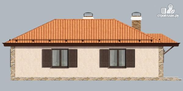 Фото 6: проект одноэтажный дом с камином и террасой