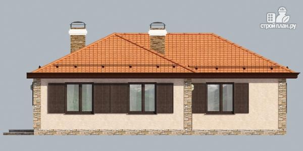 Фото 7: проект одноэтажный дом с камином и террасой