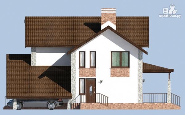 Фото 4: проект дом с террасой, сауной и навесом для машины