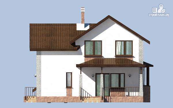 Фото 5: проект дом с террасой, сауной и навесом для машины