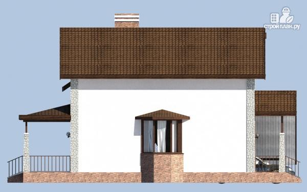Фото 6: проект дом с террасой, сауной и навесом для машины