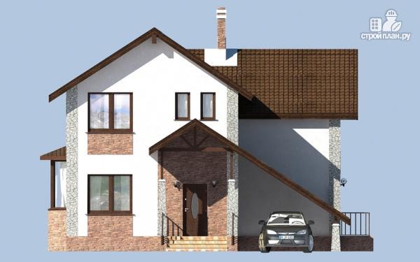 Фото 7: проект дом с террасой, сауной и навесом для машины