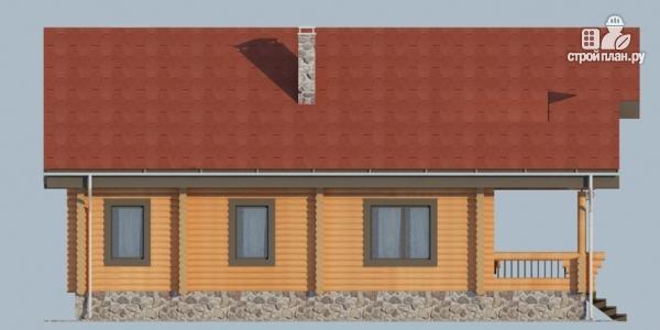 Фото 4: проект деревянный дом с террасой, балконом и мансардным этажом