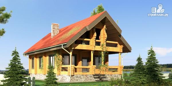 Фото 8: проект деревянный дом с террасой, балконом и мансардным этажом
