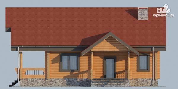 Фото 5: проект деревянный дом с террасой, балконом и мансардным этажом