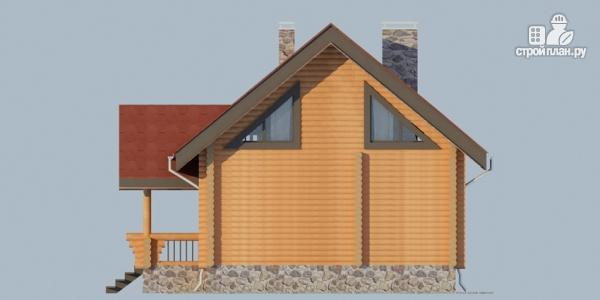 Фото 6: проект деревянный дом с террасой, балконом и мансардным этажом