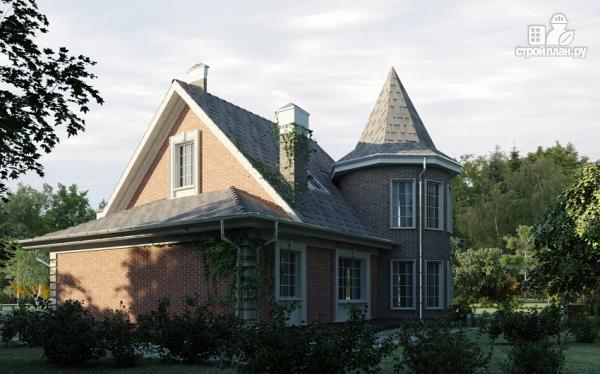 Фото 10: проект дом из газобетона с террасой, двухсветной гостиной и сауной
