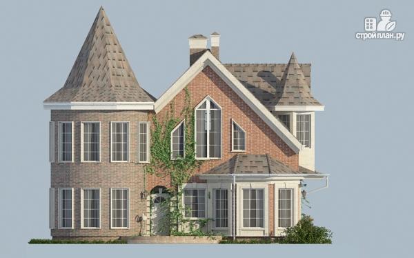 Фото 8: проект дом из газобетона с террасой, двухсветной гостиной и сауной