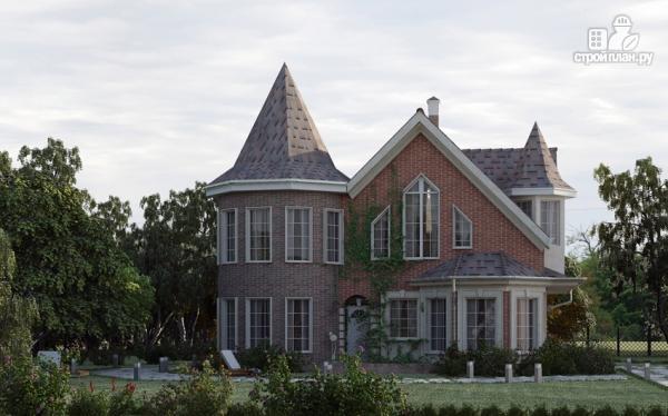 Фото 7: проект дом из газобетона с террасой, двухсветной гостиной и сауной