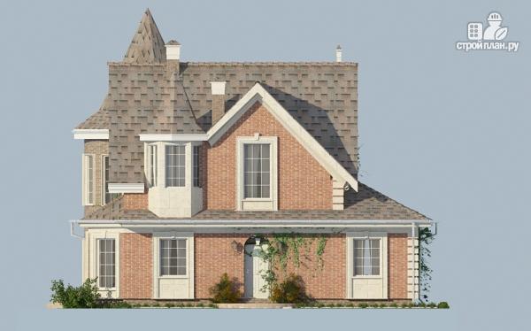 Фото 9: проект дом из газобетона с террасой, двухсветной гостиной и сауной