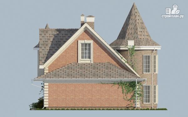 Фото 4: проект дом из газобетона с террасой, двухсветной гостиной и сауной