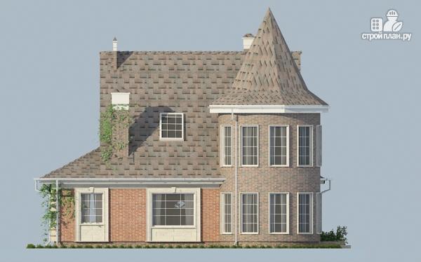 Фото 5: проект дом из газобетона с террасой, двухсветной гостиной и сауной