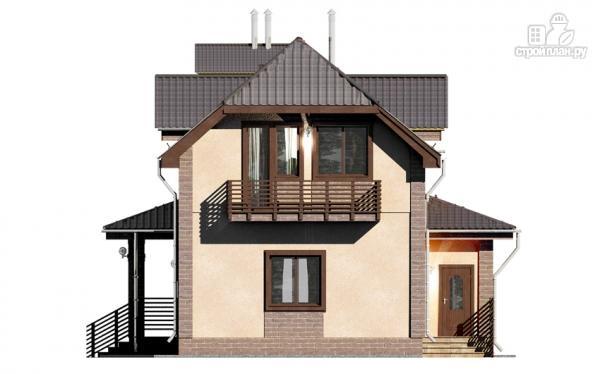 Фото 6: проект дом из газобетона, для двух поколений, с общей террасой