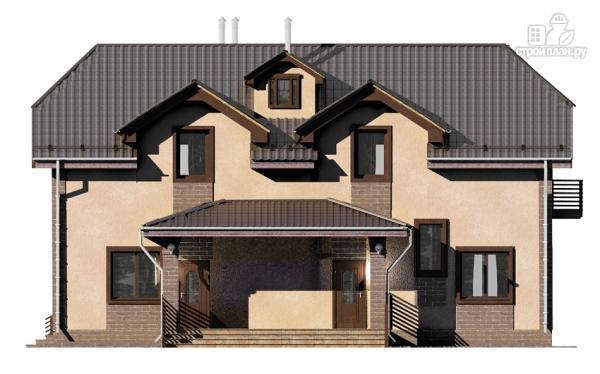 Фото 7: проект дом из газобетона, для двух поколений, с общей террасой
