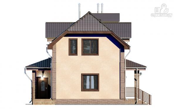 Фото 4: проект дом из газобетона, для двух поколений, с общей террасой