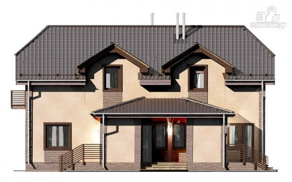 Фото 5: проект дом из газобетона, для двух поколений, с общей террасой