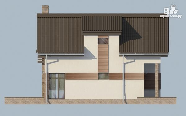 Фото 6: проект дом из газобетона с балконом и вторым светом в гостиной