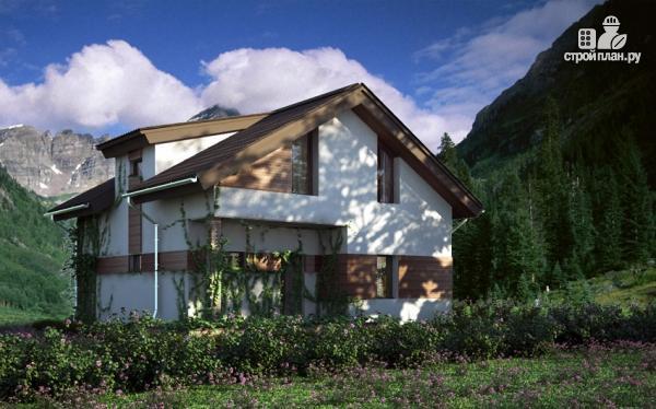 Фото 9: проект дом из газобетона с балконом и вторым светом в гостиной