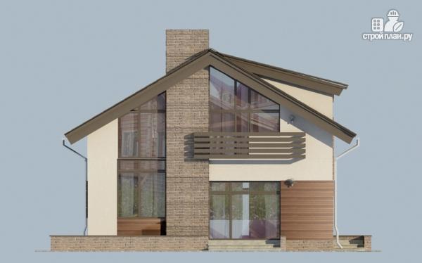 Фото 5: проект дом из газобетона с балконом и вторым светом в гостиной
