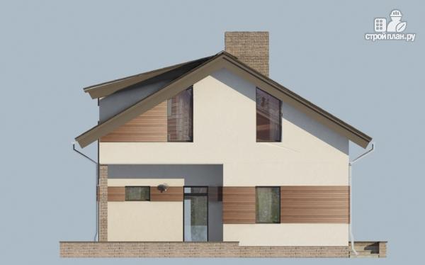 Фото 7: проект дом из газобетона с балконом и вторым светом в гостиной