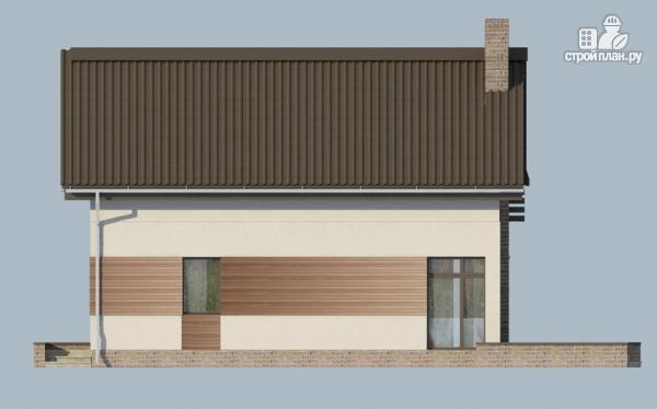 Фото 10: проект дом из газобетона с балконом и вторым светом в гостиной