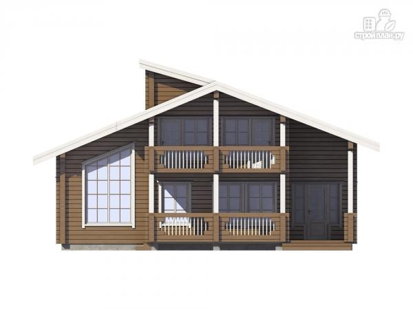 Фото 4: проект дом из клеенного бруса с балконом и террасой