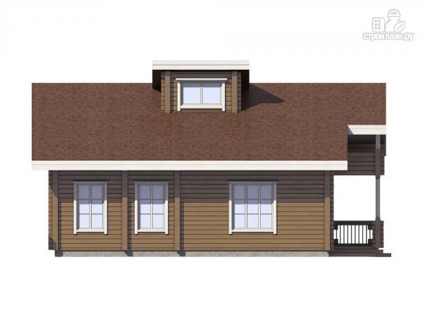 Фото 7: проект дом из клеенного бруса с балконом и террасой